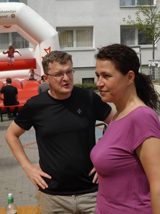 Jacqueline Bellin und Jan Augustyniak auf dem Stadtteilfest in Süd c/p. Peter Gudlowski