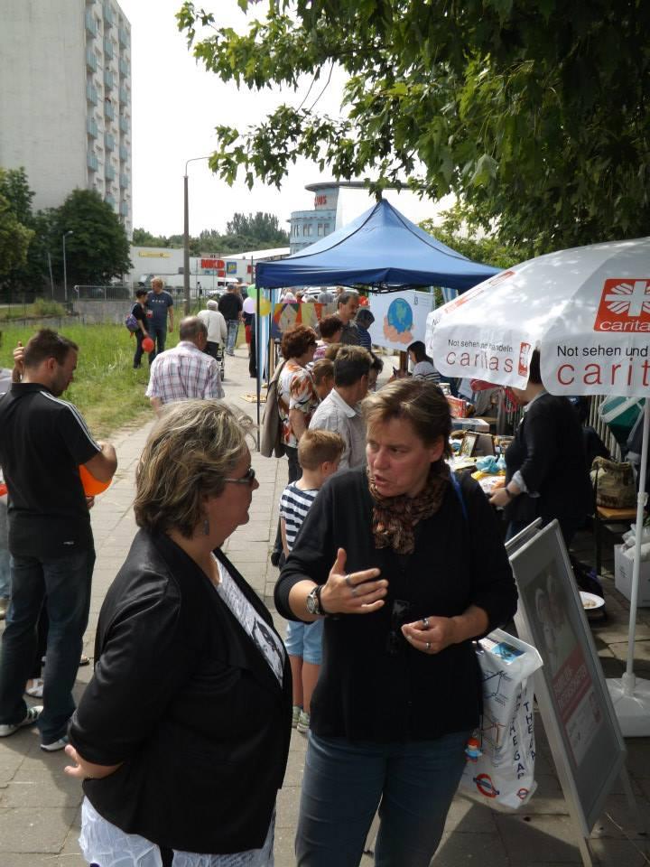 Sandra Seifert auf dem Stadtteilfest Süd. c/p. Peter Gudlowski